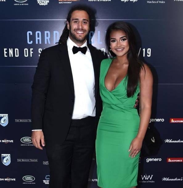 Josh Navidi and his girlfriend
