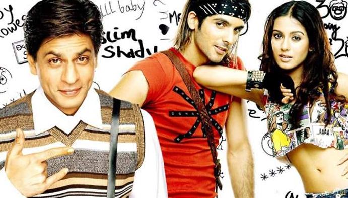 Amrita Rao in the film 'Main Hoon Na' alongside Shah Rukh Khan and Zayed Khan