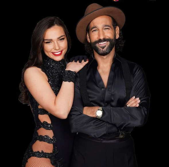 Lili Paul with professional dancer Massimo Sinato