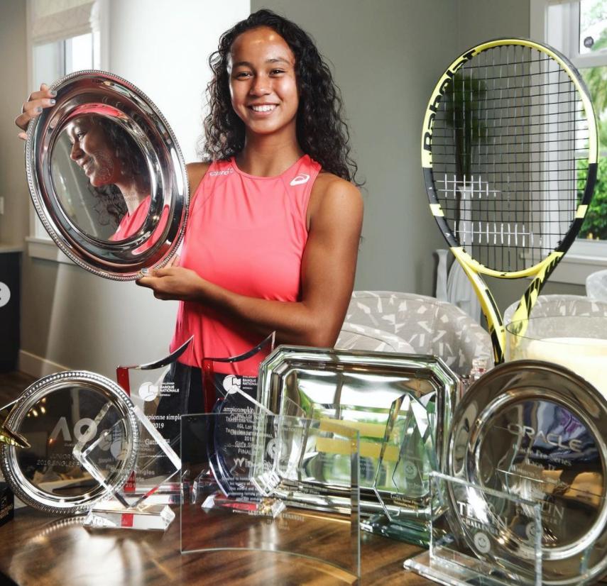 Leylah Annie Fernandez with her achievements