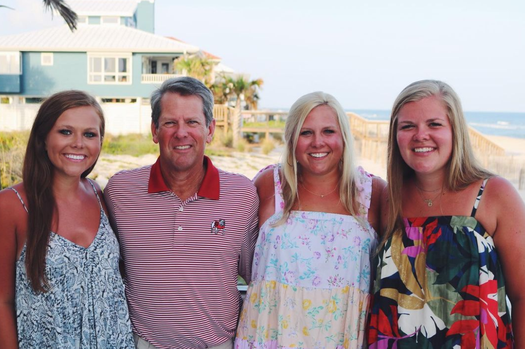 Brian Kemp with his daughters; Jarrett, Lucy, and Amy Porter