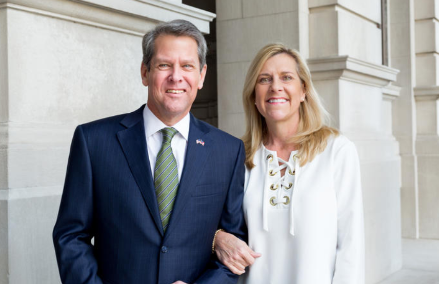 Brian Kemp with his wife, Marty Kemp
