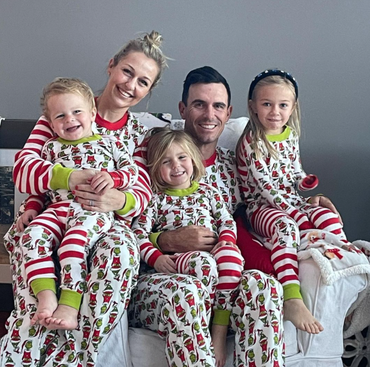 Billy Horschel with his wife, Brittany Horschel and their Kids during Christmast Time