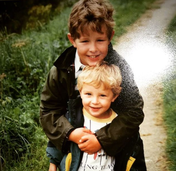 James Newman with his brother, John Newman