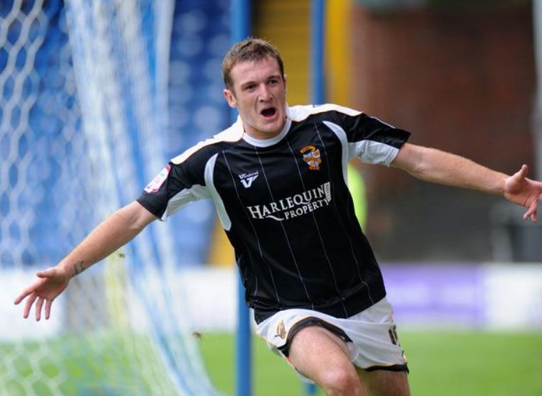 Lee Collins Celebrating After A Goal
