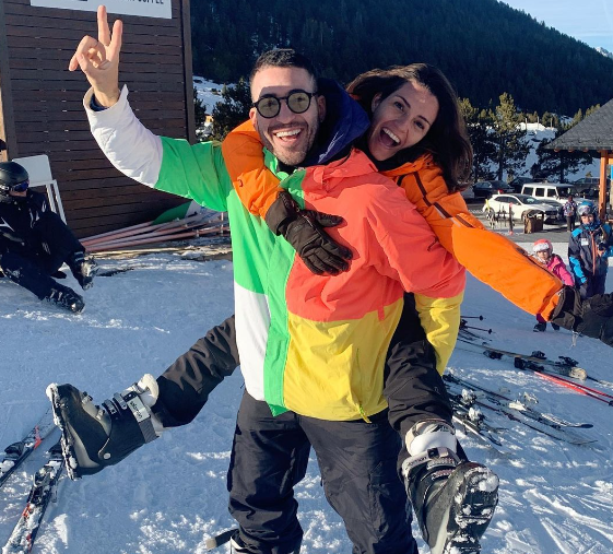 Miguel Angel Silvestre and his sister, Marieta