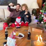 Miguel Angel Silvestre with his mom, Maria Lidon