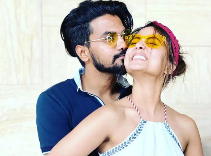 Hina Khan and her boyfriend, Rocky Jaiswal