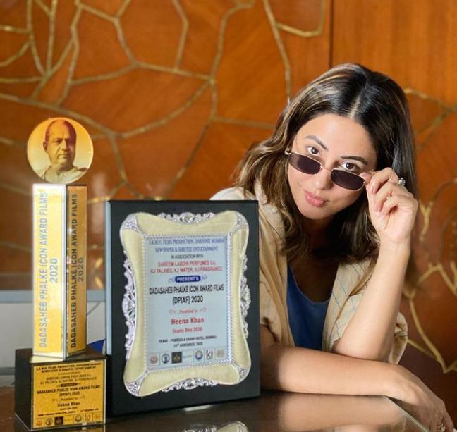 Hina Khan With Awards