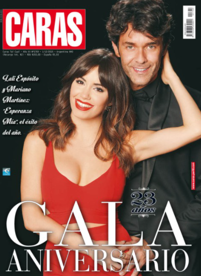 Lali Esposito and Mariano Martínez, together at the gala Faces