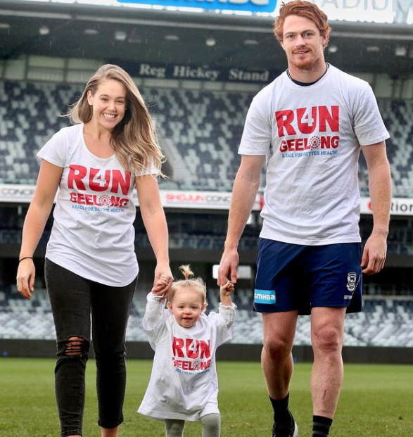 Gary Rohan with his wife, Amie Rohan and their daughter, Bella