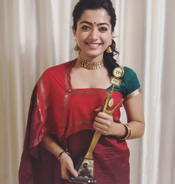Rashmika Mandamma With Award