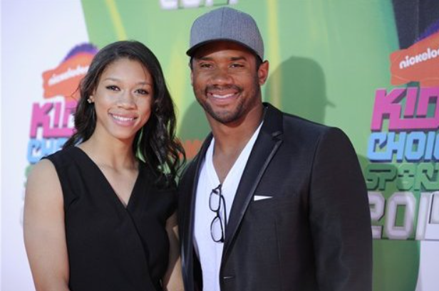 Anna Wilson with her brother, Russell Wilson