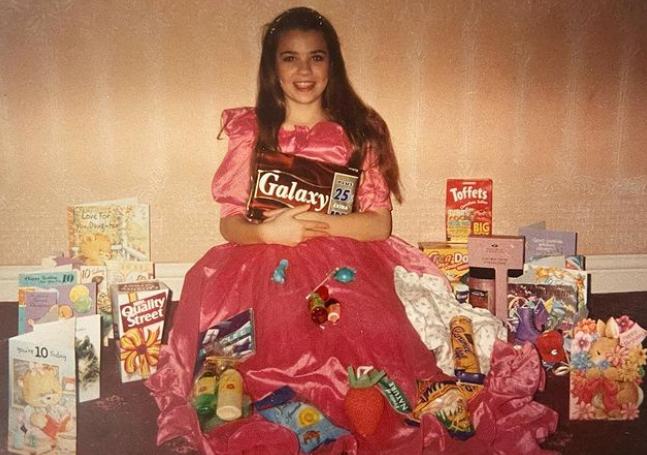 Christine Martin on her 10th Birthday