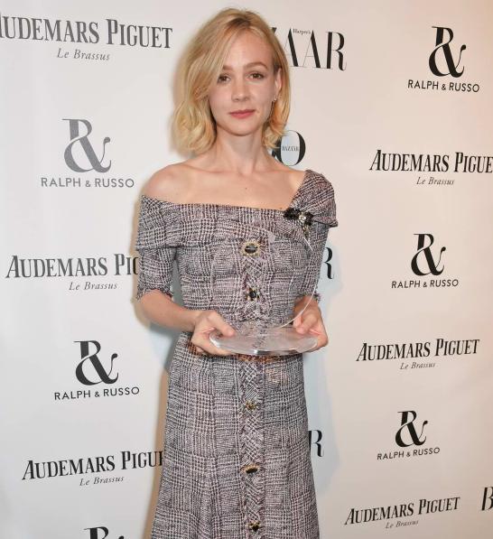Carey Mulligan with her award