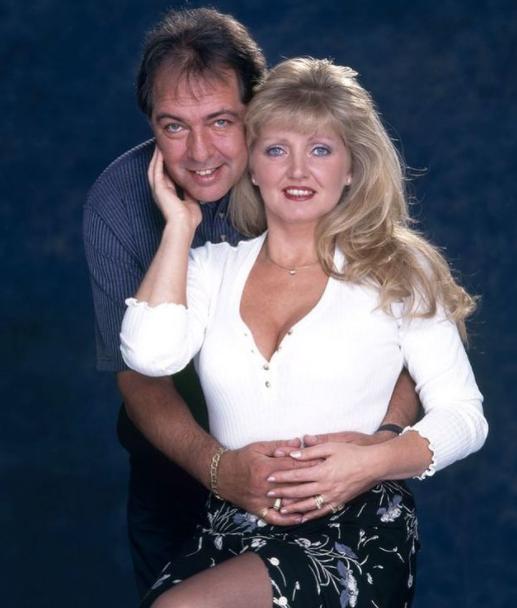 Linda Nolan with her husband, Brian Hudson (Death in 2007)