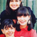 Helena Noguerra with her mother and sister