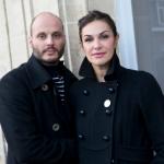 Helena Noguerra with her partner, Fabrice Du Welz