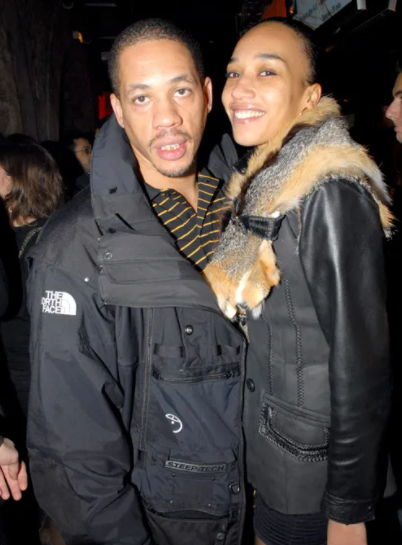 Joey Starr and his girlfriend, Leïla Dixmier