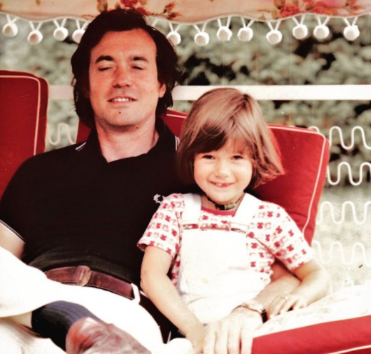 Childhood Picture of Alexia Laroche-Joubert with her Uncle