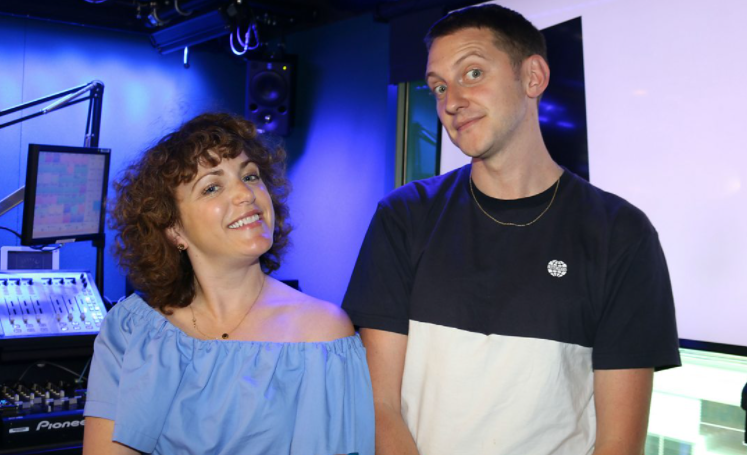 Annie Mac and her husband, Toddla T