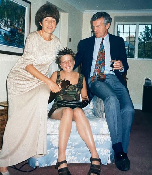 Annie Mac at the age of 18 with her mom and dad, Rosie and Dave