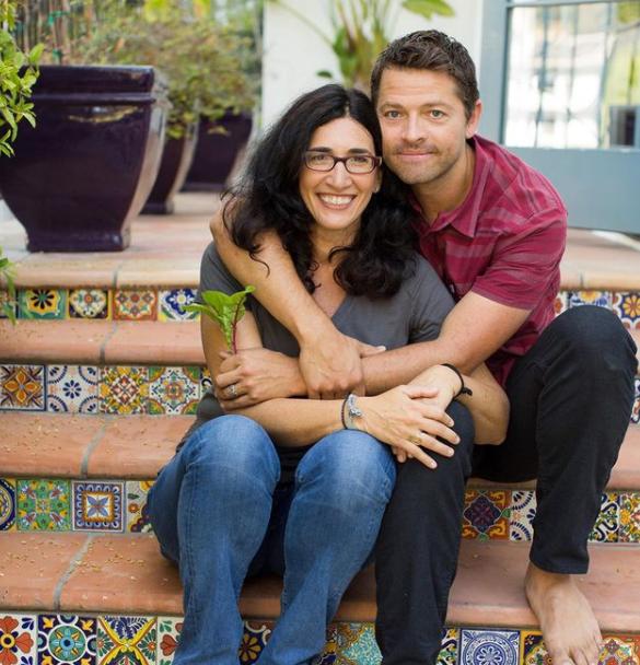 Misha Collins and his wife, Victoria Vantoch