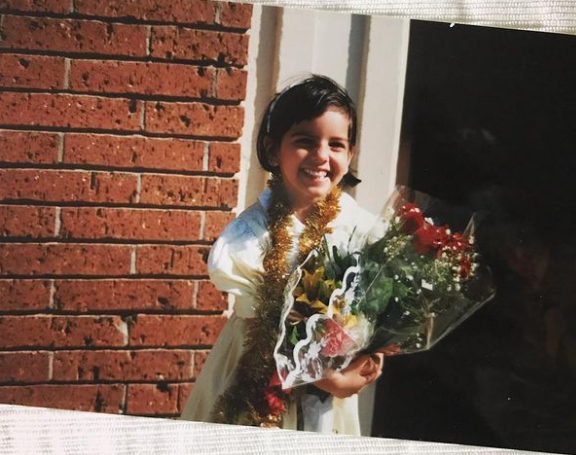 Childhood Snap of Fatima Farheen Mirza