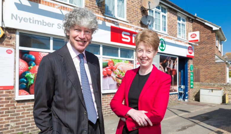 Paula Vennells and Tim Parker, chairman of the post office