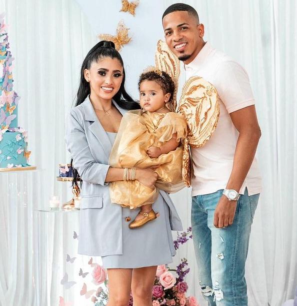 Felix Verdejo with his wife, Eliz Marie Santiago Sierra and their daughter