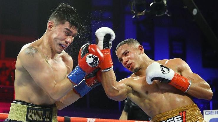 Professional Boxer, Felix Verdejo Hitting The Opponent