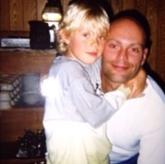 Daniel Sprong with his dad