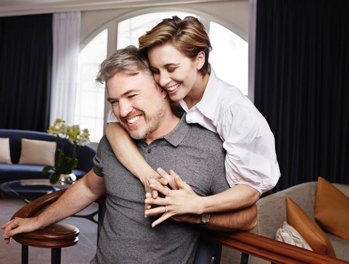 Vicky McClure and her fiance, Jonny Owen
