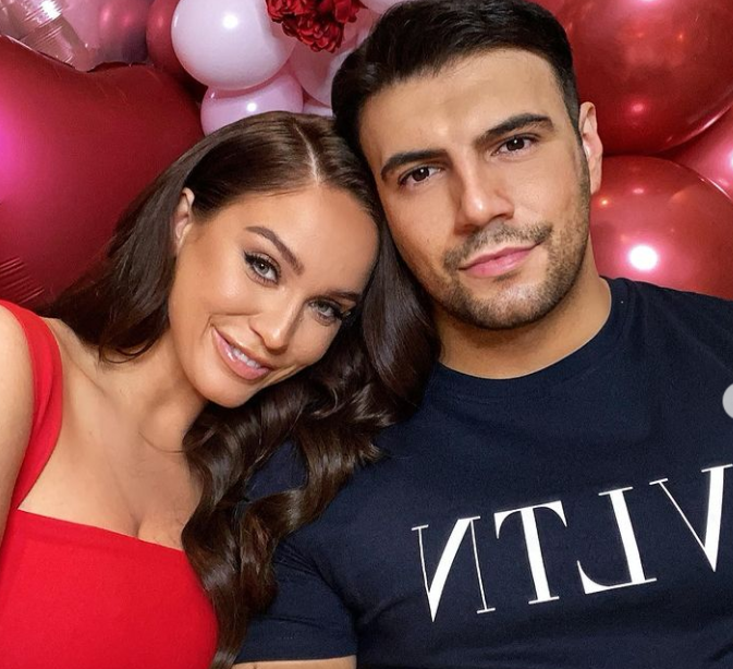 Ercan Ramadan with his girlfriend, Vicky Pattison During Valentine's Day of 2020
