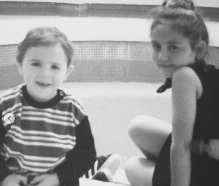 Childhood Picture of Sophie Kasaei and her brother