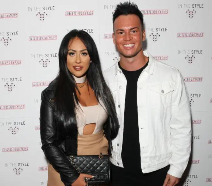 Sophie Kasaei with her ex-boyfriend, Joel Corry