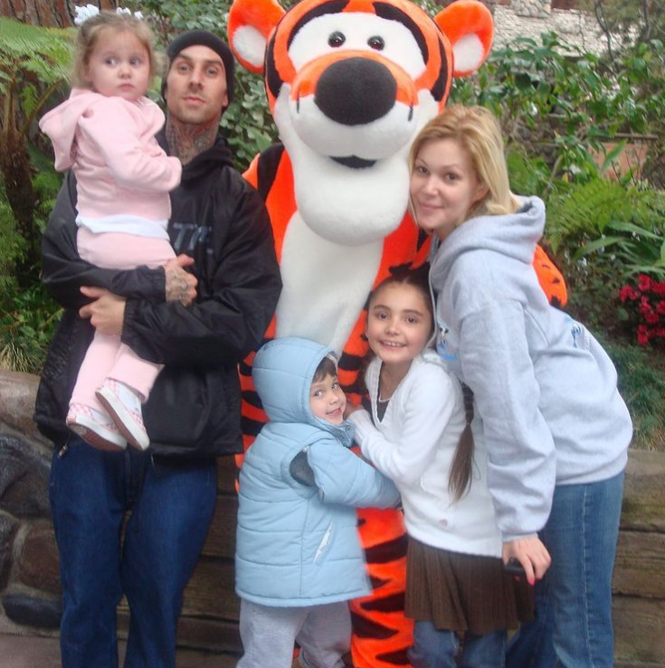 Shanna Moakler and Travis Barker with their children