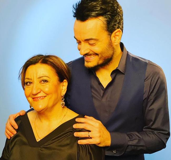 Giovanni Zarrella with her mom
