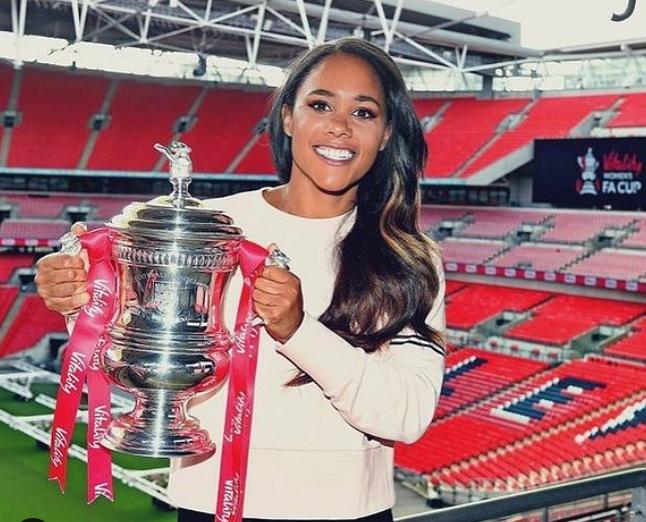 Alex Scott with Women's FA Cup