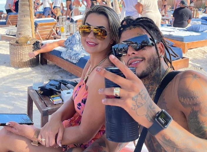 Mc Kevin and his wife, Deolane Bezerra