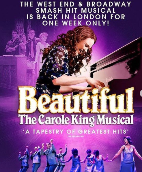 Daisy Wood-Davis in the UK and Ireland touring production of 'Beautiful - The Carole King Musical' in 2020