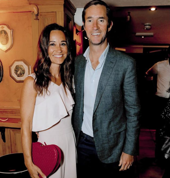James and Pippa Matthews attend The Miles Frost Fund party at Bunga Bunga Covent Garden in London in 2017