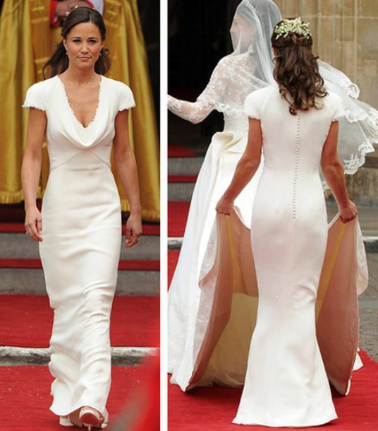 Middleton as the maid of honor at the Royal Wedding of Prince William and Catherine in 2011