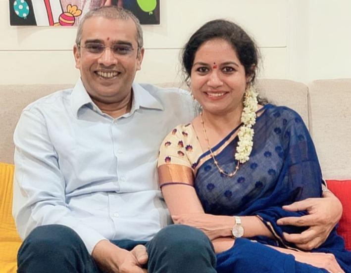 Ram Veerapaneni and Sunitha Upadrashta