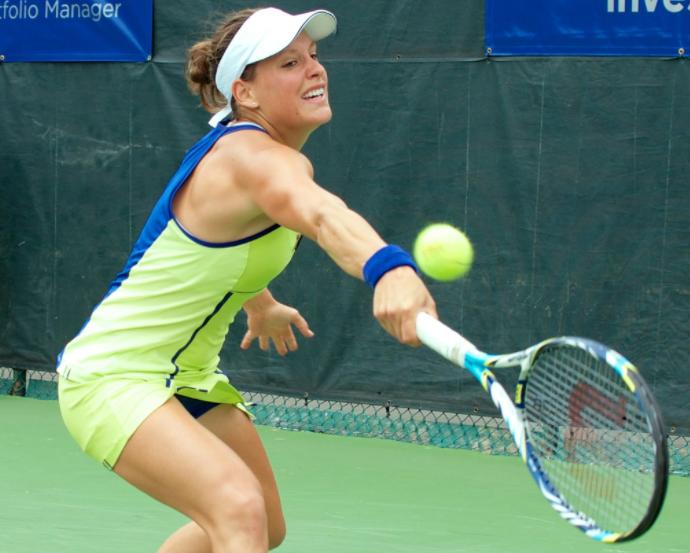 Canadian tennis star Stephanie Dubois