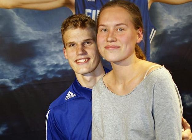 Lauri Markkanen and his wife, Verna Aho