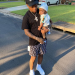Rylo Rodriguez with his kid