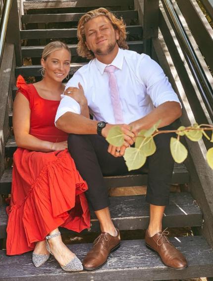 MyKayla Skinner with her husband