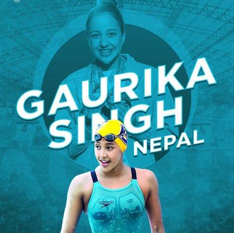 Gaurika Singh Swimming