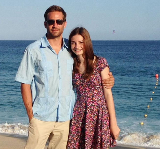 Paul Walker and Meadow Rain Walker
